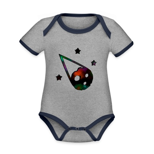 logo interestelar - Body contraste para bebé de tejido orgánico