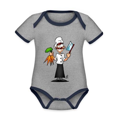 The vegetarian chef - Organic Baby Contrasting Bodysuit