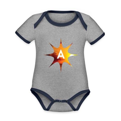 Sunshine Hoodie White - Ekologiczne body niemowlęce z krótkim rękawem i kontrastowymi lamówkami