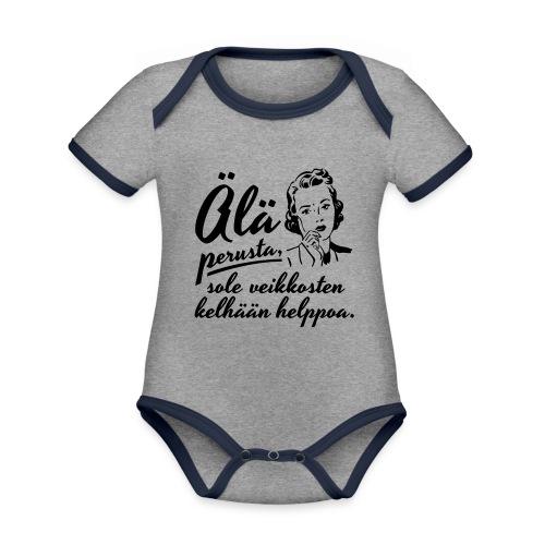 älä perusta - nainen - Vauvan kontrastivärinen, lyhythihainen luomu-body