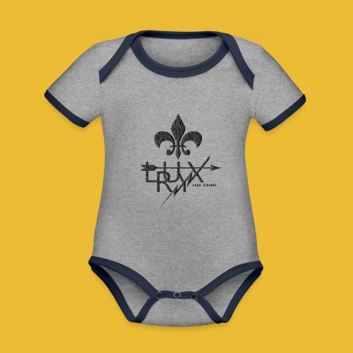 Luxry (Faded Black) - Organic Baby Contrasting Bodysuit