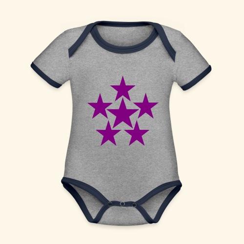 5 STAR lilla - Baby Bio-Kurzarm-Kontrastbody