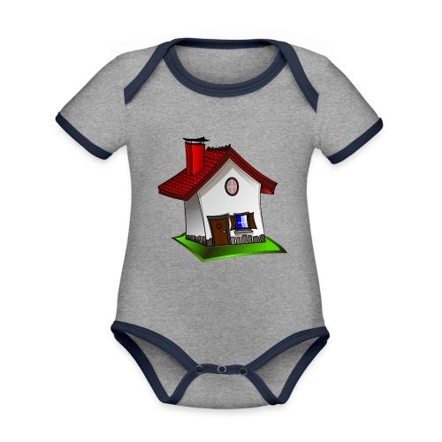 Haus - Baby Bio-Kurzarm-Kontrastbody