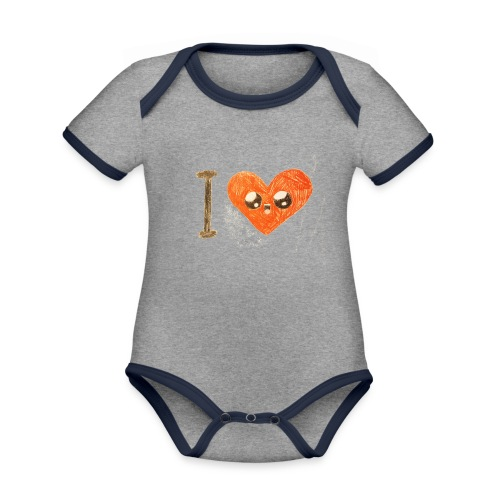 Kids for Kids: heart - Baby Bio-Kurzarm-Kontrastbody