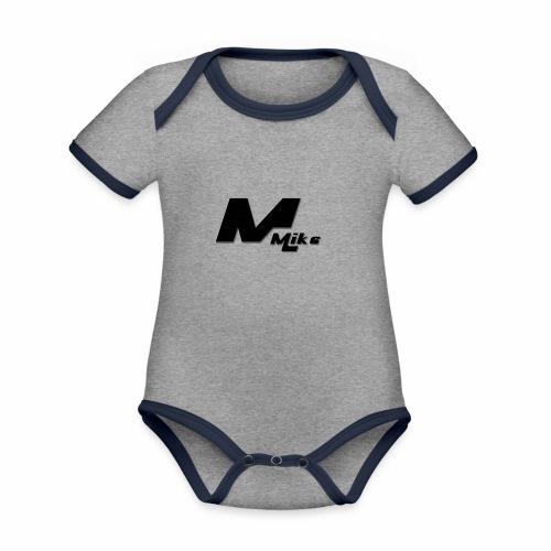 mike - Baby Bio-Kurzarm-Kontrastbody
