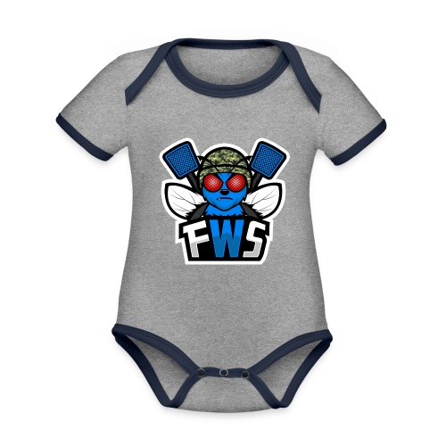 FWS Logo - Vauvan kontrastivärinen, lyhythihainen luomu-body