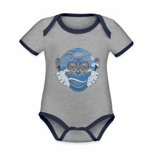 Affe - Baby Bio-Kurzarm-Kontrastbody