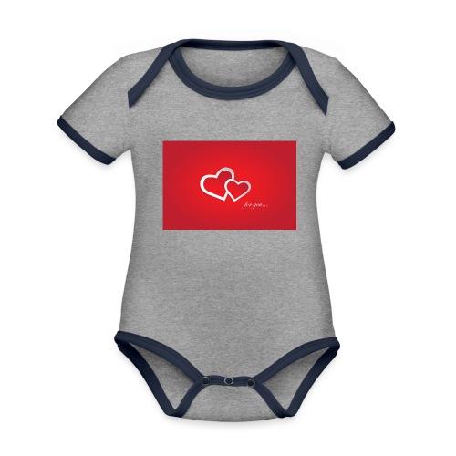 for you - Baby Bio-Kurzarm-Kontrastbody