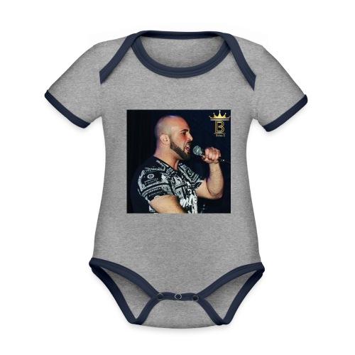 Boba D Official - Baby contrasterend bio-rompertje met korte mouwen