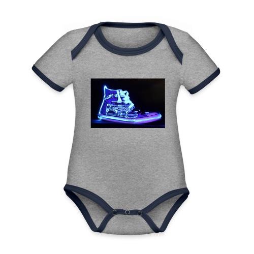 Jordan Schuh Lightpainting - Baby Bio-Kurzarm-Kontrastbody