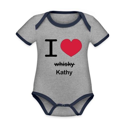 ilovekathy - Baby contrasterend bio-rompertje met korte mouwen