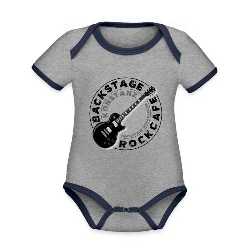 Backstage Logo einfach Schwarz - Baby Bio-Kurzarm-Kontrastbody