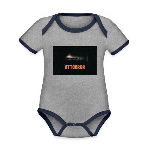 svart granit polerad - Ekologisk kontrastfärgad kortärmad babybody