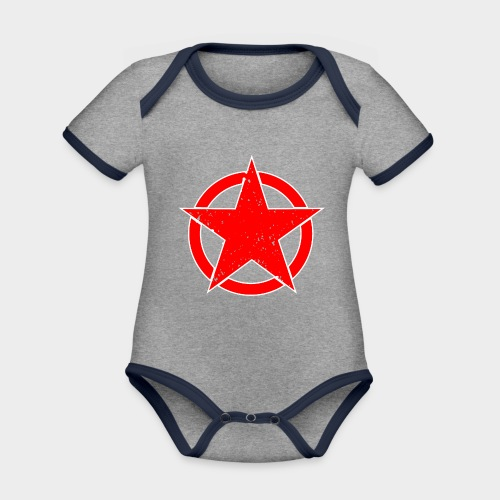 ESTRELLA EN CIRCULO - Body contraste para bebé de tejido orgánico