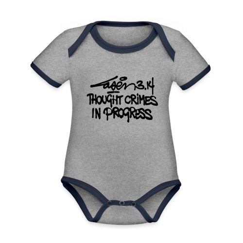 Thought Crimes In Progres - Organic Baby Contrasting Bodysuit
