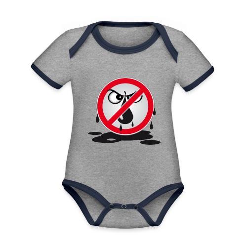 Erdöl Nein danke - Baby Bio-Kurzarm-Kontrastbody