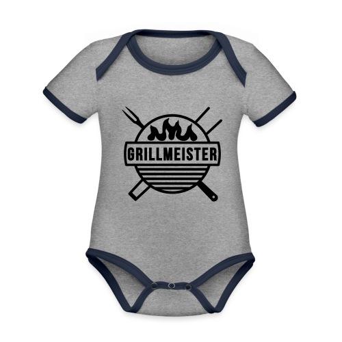 Grillmeister - Baby Bio-Kurzarm-Kontrastbody