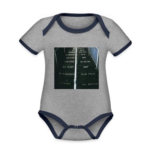 lawsoftechno - Baby contrasterend bio-rompertje met korte mouwen