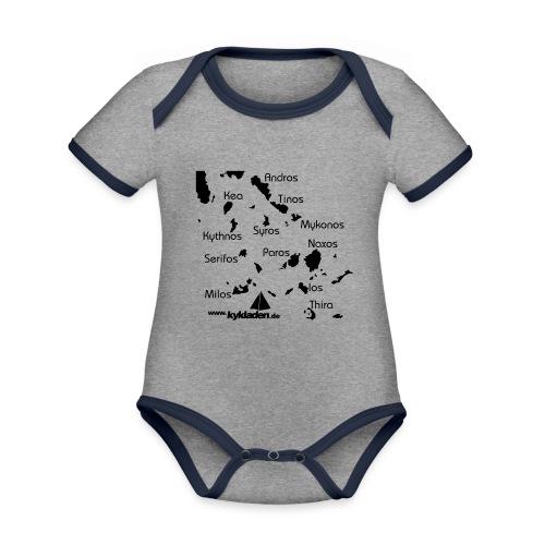 Kykladen Griechenland Crewshirt - Baby Bio-Kurzarm-Kontrastbody
