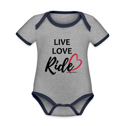 live-love-ride - Baby Bio-Kurzarm-Kontrastbody