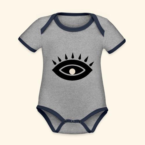third eye - Ekologisk kontrastfärgad kortärmad babybody