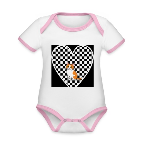 Charlie the Chess Cat - Organic Baby Contrasting Bodysuit