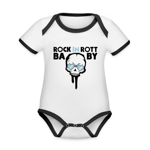 ROCK IN ROTT BABY - Kids - Baby Bio-Kurzarm-Kontrastbody