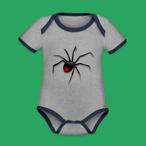 spider logo fantasy - Body da neonato a manica corta, ecologico e in contrasto cromatico
