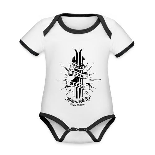 FreeYourHeels_merge - Vauvan kontrastivärinen, lyhythihainen luomu-body