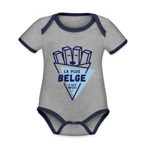 La+Belge - Body Bébé bio contrasté manches courtes