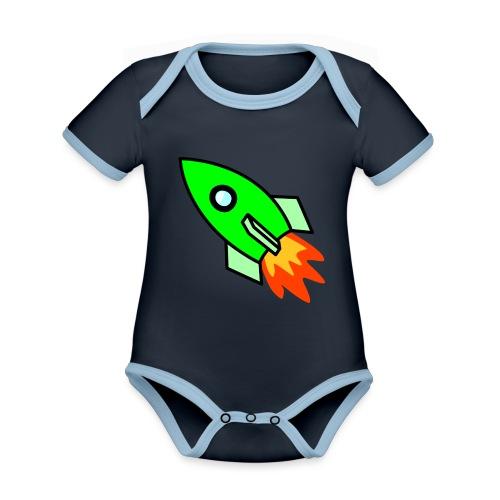 neon green - Organic Baby Contrasting Bodysuit