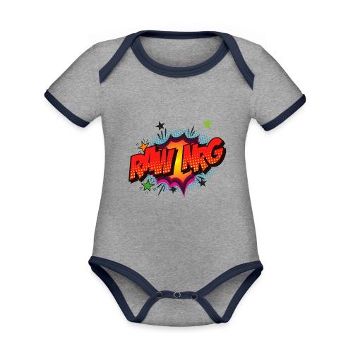 Raw Nrg comic3 - Organic Baby Contrasting Bodysuit