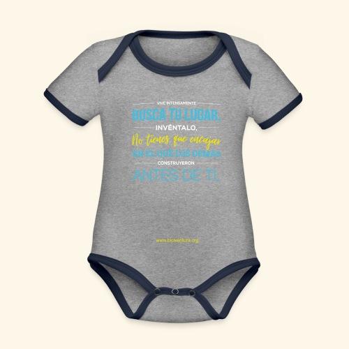 Busca tu lugar - Body contraste para bebé de tejido orgánico