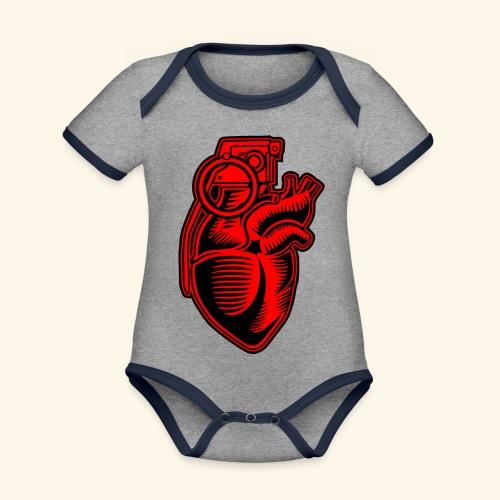 Grenade Heart - Baby Bio-Kurzarm-Kontrastbody