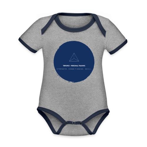 Triforce blend (blue) - Baby Bio-Kurzarm-Kontrastbody