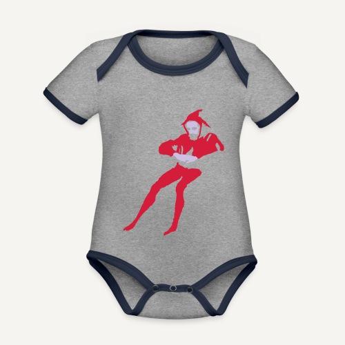 Stańczyk - Ekologiczne body niemowlęce z krótkim rękawem i kontrastowymi lamówkami