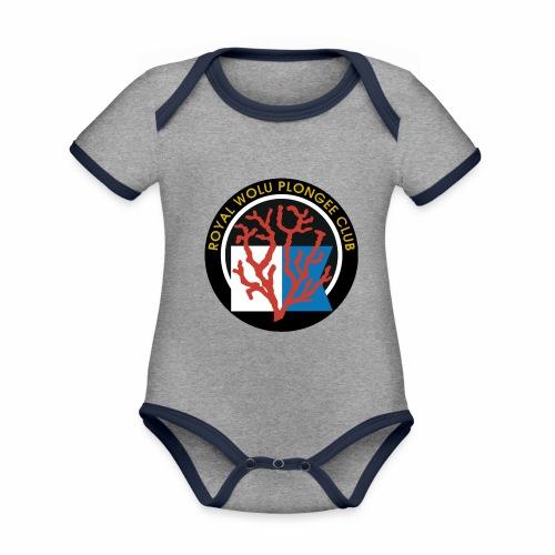 Royal Wolu Plongée Club - Body Bébé bio contrasté manches courtes