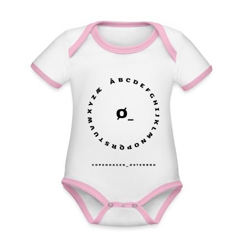 Østerbro - Kortærmet økologisk babybody i kontrastfarver