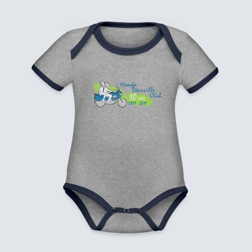 HDC jubileum logo - Baby contrasterend bio-rompertje met korte mouwen