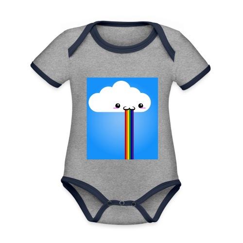 rainbow - Baby Bio-Kurzarm-Kontrastbody