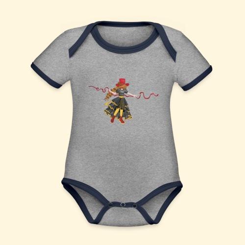 Ladybird - La célèbre uchronaute - Body Bébé bio contrasté manches courtes