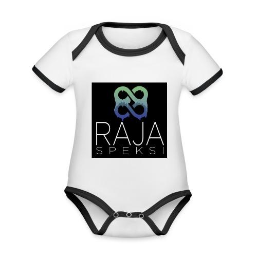 RajaSpeksin logo - Vauvan kontrastivärinen, lyhythihainen luomu-body