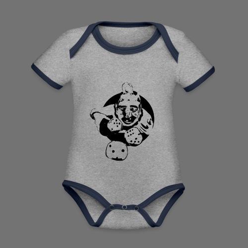 Professional Gambler (1c musta) - Vauvan kontrastivärinen, lyhythihainen luomu-body