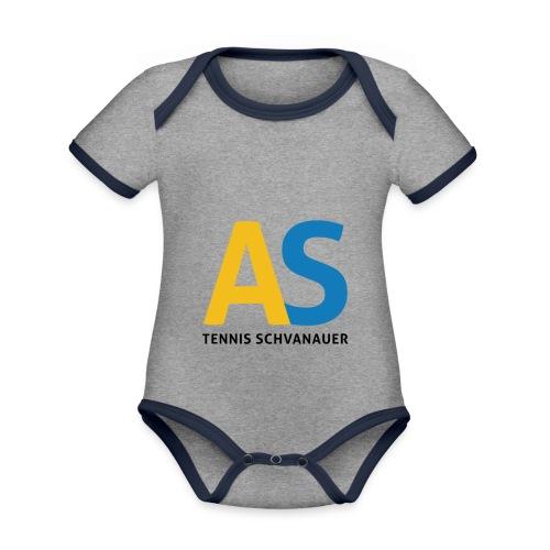 as logo - Body da neonato a manica corta, ecologico e in contrasto cromatico