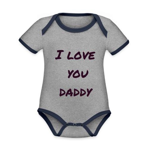 Ich liebe dich Papa - Vatertagsgeschenktipp - Baby Bio-Kurzarm-Kontrastbody