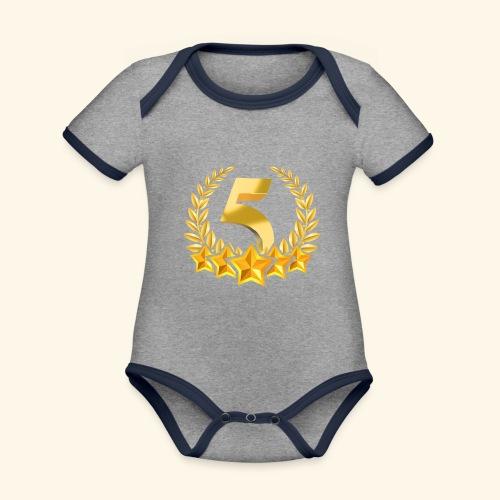 Fünf-Stern 5 sterne - Baby Bio-Kurzarm-Kontrastbody