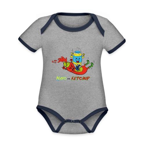 Mayo VS Ketchup - Body da neonato a manica corta, ecologico e in contrasto cromatico