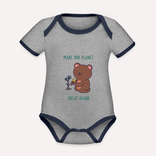 Caring About Climate Change? Trees T-Shirt Print - Organic Baby Contrasting Bodysuit
