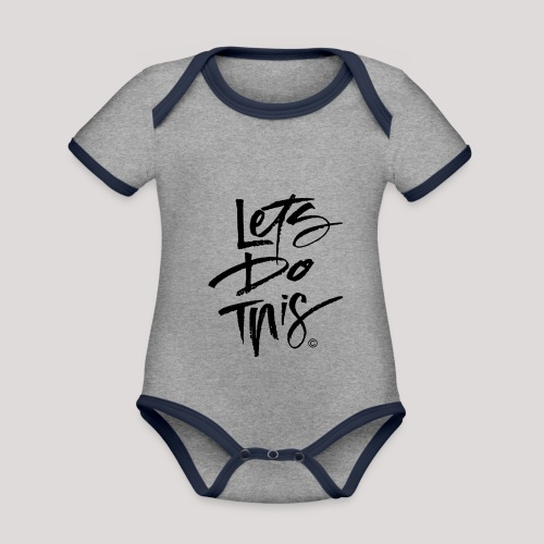 LDT Clear MASTER BLK - Organic Baby Contrasting Bodysuit