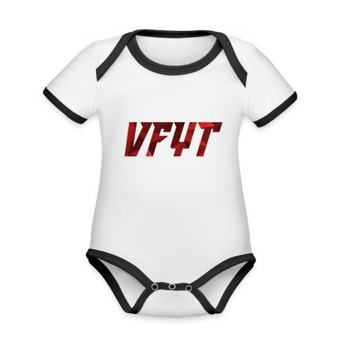 vfyt shirt - Baby contrasterend bio-rompertje met korte mouwen